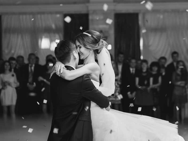 Dancing Bride & Groom