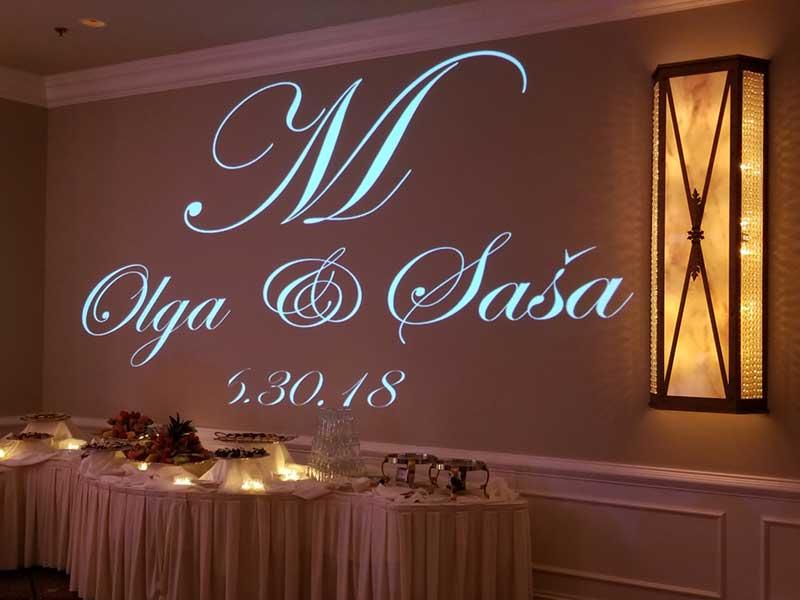 Wedding DJ Monogram Enhancement